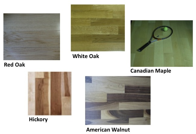 Flooring wood flooring domestic solid unfinished and for Types of flooring materials