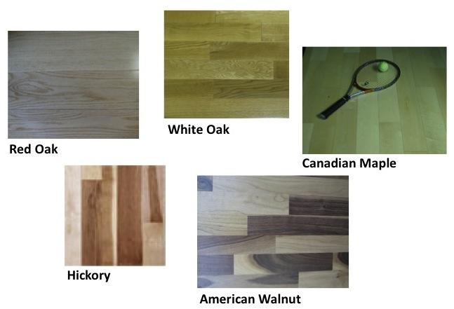 domestic hardwood flooring materials