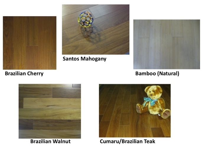 Exotic hardwood flooring products