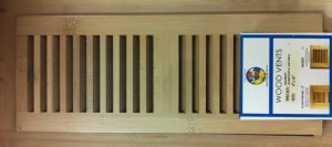 Bamboo vent cover - natural finish picture