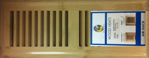 Bamboo Vent Cover - natural finish