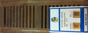 Brazilian Teak/Cumaru Insert Wood Vent