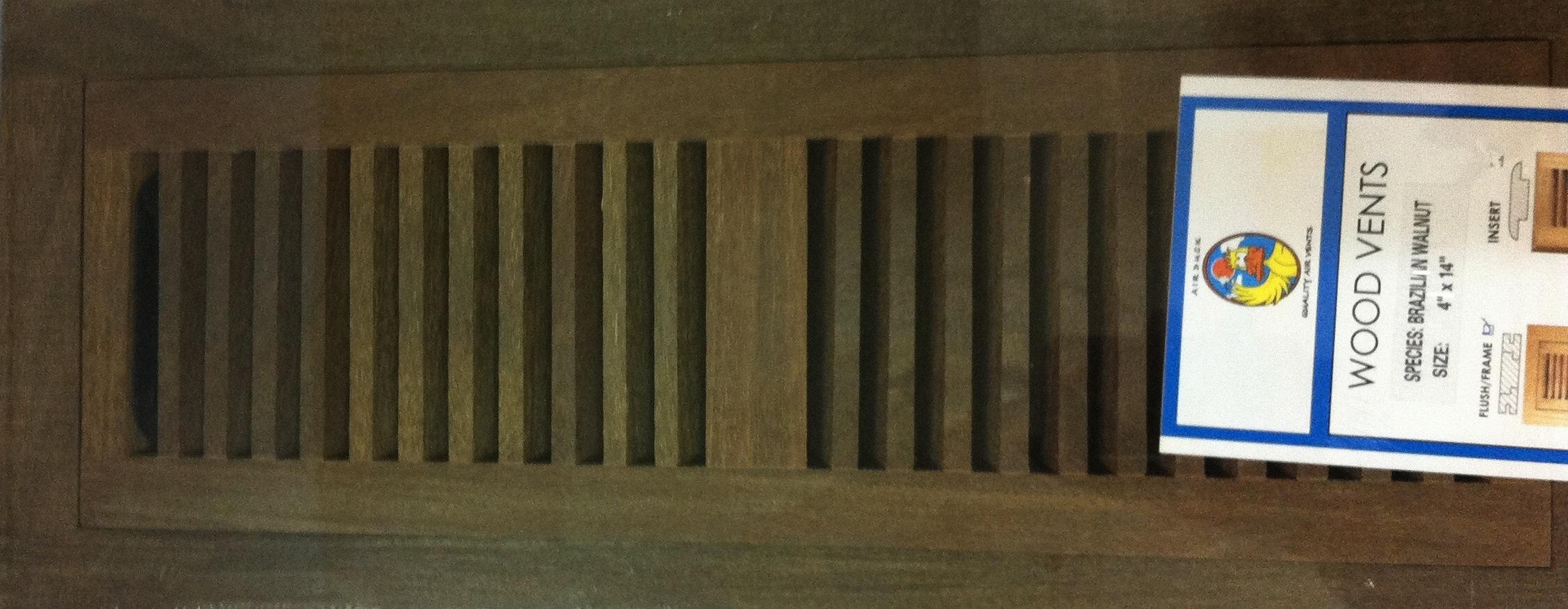 Brazilian Walnut Vent Covers Ipe Wood Vent Covers