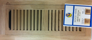 Red Oak vent cover - flush