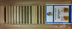 Red Oak vent covers insert